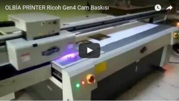 OLBİA PRİNTER Ricoh Gen4 Cam Baskısı